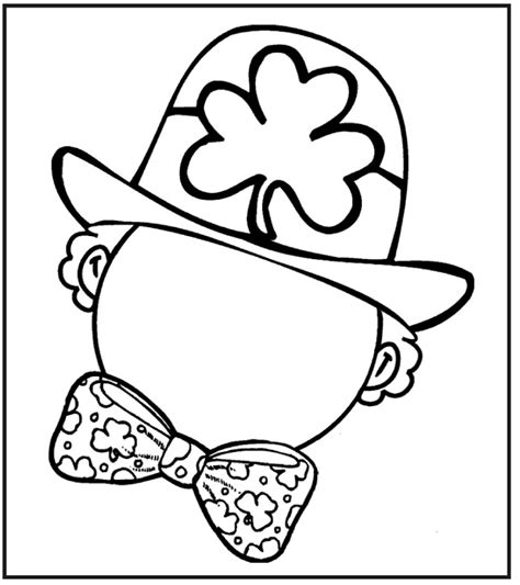 coloring book pages st day leprechaun pictures cliparts co