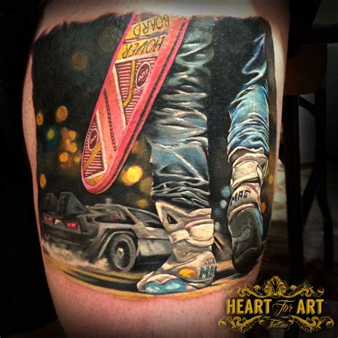 back to the future tattoo jpg portfolio heart for art