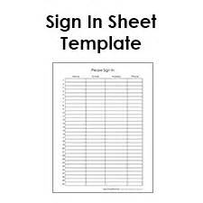blank sign sheet templates