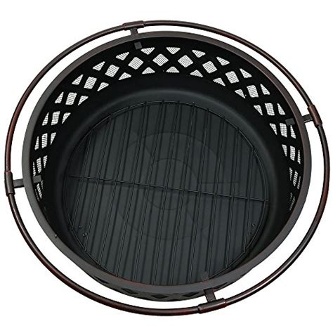 pit screen 36 sunnydaze 36 inch large bronze crossweave pit with