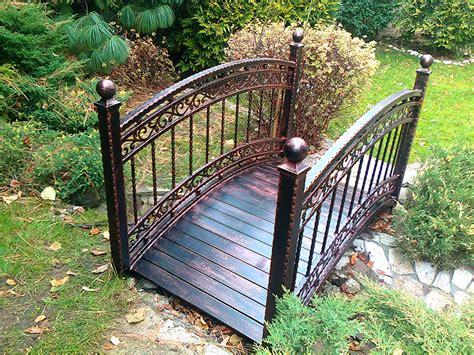 metal garden bridge decorative and functional item for home garden homesfeed