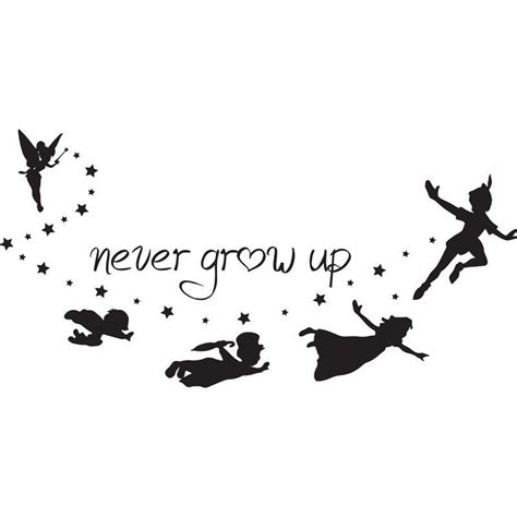 Image Result For Never Grow Up Peter Pan Silhouette Pan Silhouette Template