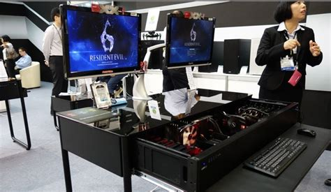 Amazing Gaming Pc By Lian Li That S Also A Desk Gaming Desk Accessories