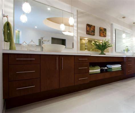 Contemporary Cherry Bathroom Cabinets   Kitchen Craft