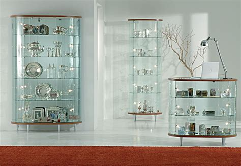 dining room glass cabinet glass display cabinet showcases with wooden structure