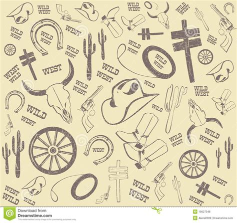 western design elements vector free background from wild west western elements royalty free