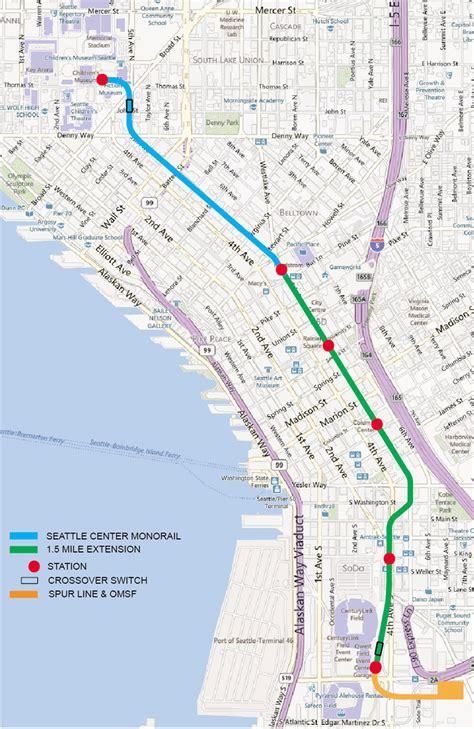 seattle map station seattle monorail map bwzesa 001