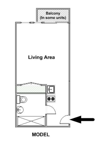 layout for small bedroom new york accommodation studio apartment rental in long 15784 | 15784FP01