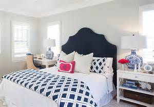 Navy Blue And White Bedroom blue and white bedroom with navy headboard bed is dressed in navy and