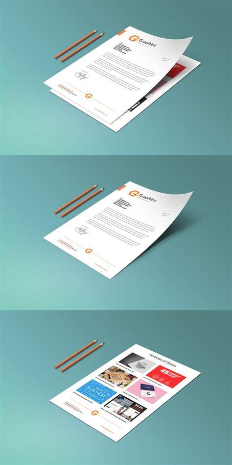 letterhead and paper portfolio mockup psd graphicsfuel