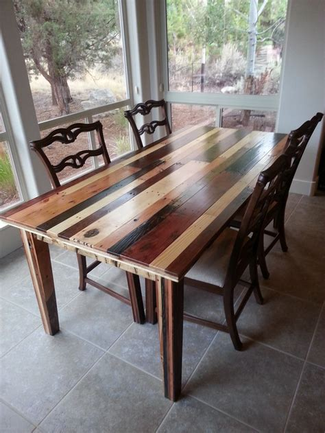 How To Make A Dining Room Table Dining Room Table I Made From Pallet Wood A Interior Design