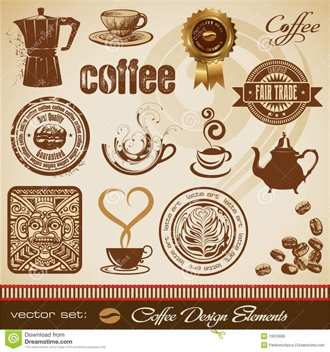 design elements of a coffee shop coffee design elements stock vector image of illustration