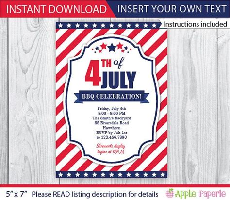 4th of july invitation templates 4th of july invitation 4th july invitations 4th of