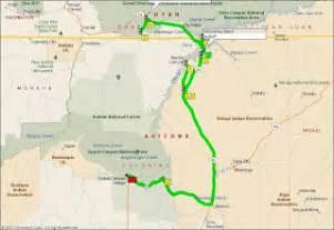 antelope arizona map 65 alive