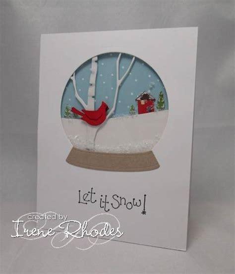 how to make a snow globe card hycct1208 cardinal snow globe by dandi93 at