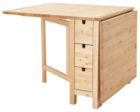 norden gateleg table birch contemporary dining tables
