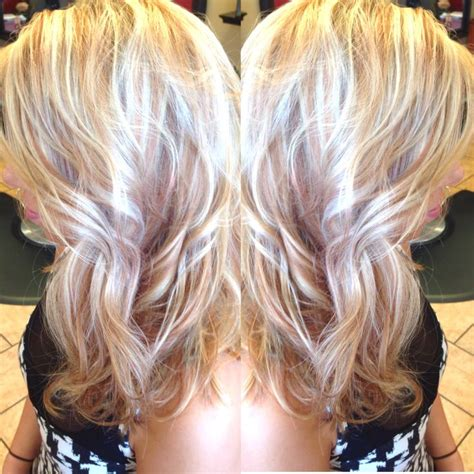 pictures of blonde hair with copper low lights platinum blonde with copper lowlights hairbycristina