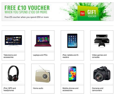 printable vouchers argos voucher code 20 off all electronics at argos using code