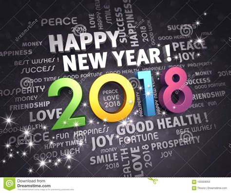 2018 happy new year stock illustration illustration of