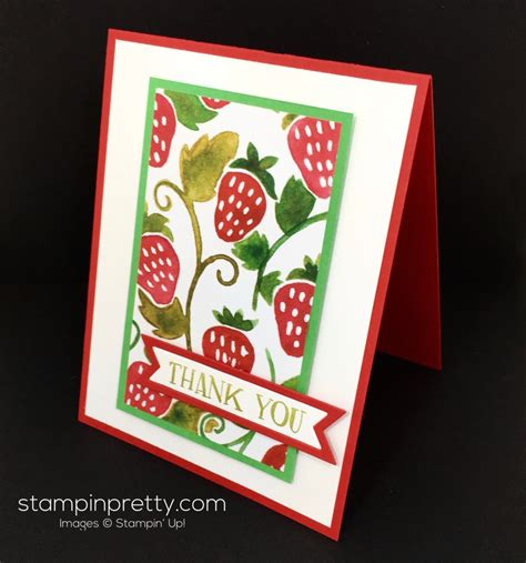 stin up card ideas fruit stand thank you card stin pretty
