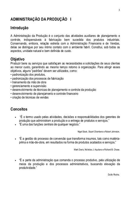 Material Administração da Produção e Operações I
