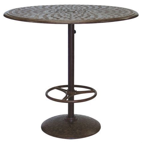 Patio Table Pedestal 201060 F Darlee 42 Quot Pedestal Bar Patio Table In Cast