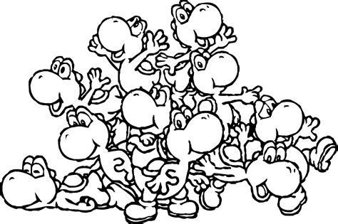 super mario coloring pages yoshi free coloring pages of yoshi mario bros
