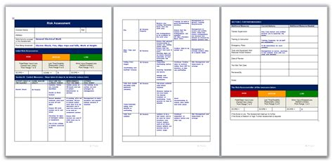 electrical risk assessment template risk assessment for general electrical work
