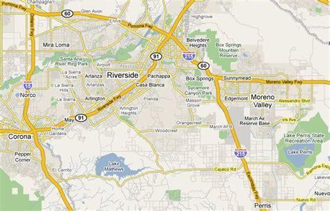 us map riverside california riverside california map