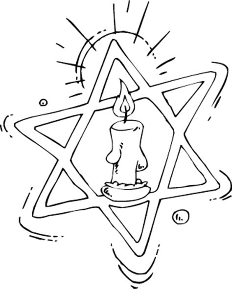 coloring page of the star of david star of david and candle coloring page coloring com