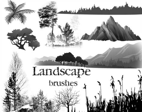 photoshop template nature tree brushes 10 free psd vector ai eps format