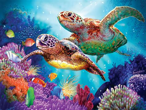 Green World Sea Fish sea jigsaw puzzles puzzlewarehouse