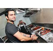 Virat Kohli During The Launch Of Khan Chachas New Outlet At Saket In