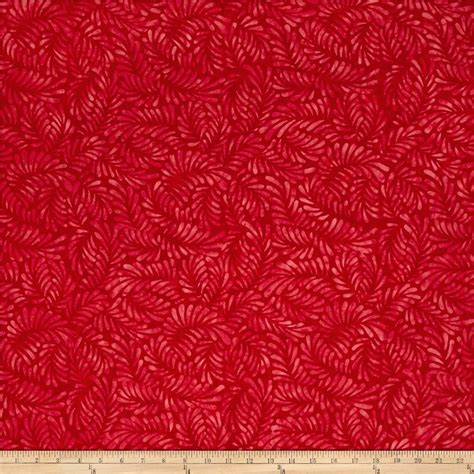 wilmington upholstery wilmington batiks feathers red discount designer fabric