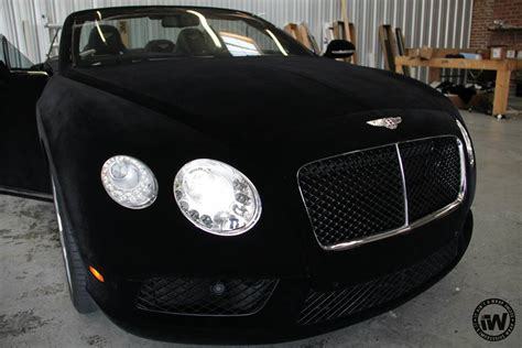 bentley velvet wrap of the day black velvet bentley gtc