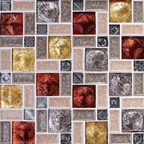 wholesale porcelain glass tile wall backsplash multi