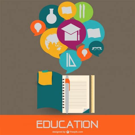 education flat style illustration vector free download