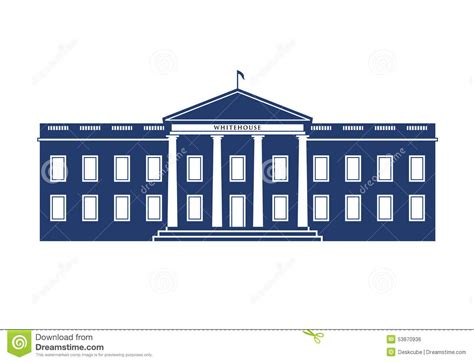 white house logo white house logo stock vector image 53870936