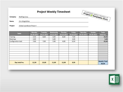 simple weekly timesheet template simple weekly project timesheet form project templates guru