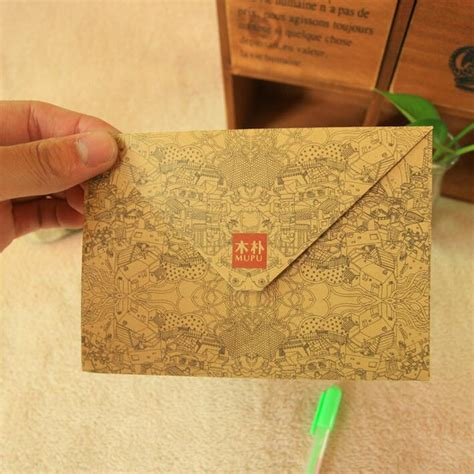 vintage pattern envelopes 100pcs lot new vintage print pattern kraft paper diy