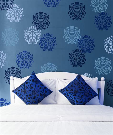 wall stencil template medium floral st bari j stencil contemporary wall