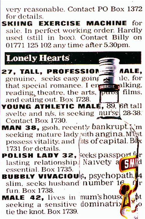 who s in that commercial archives page 2 of 4 adwhois smirnoff red vodka quot lonely hearts quot print ad by dlkw lowe
