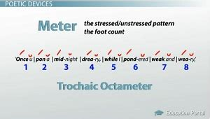 determine the pattern and name of the metrical foot used edgar allan poe s the raven summary and analysis video