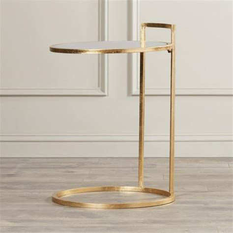 gold metal end table gold z shaped metal end table