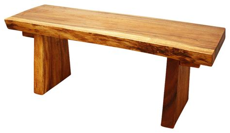 natural wood bench natural edge monkey pod wood bench farmhouse dining