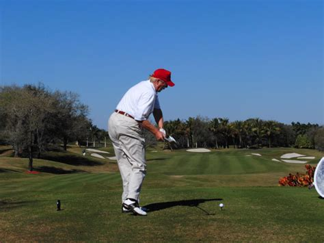 donald trump golf swing donald trump s golf swing instruction package golf com