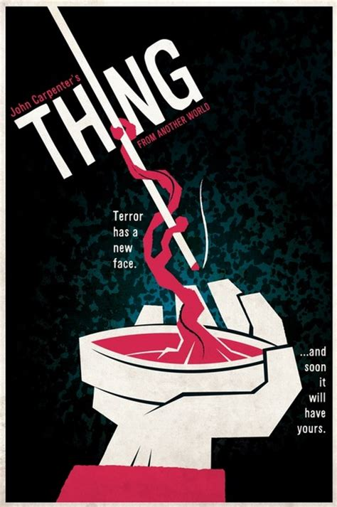 the thing minimalist poster the geeky nerfherder poster the thing 1982