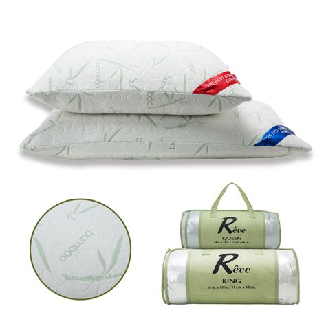 King Memory Foam Pillow by 2 Pack Bamboo Memory Foam Bed Pillow King Size Hypoallergenic W Carry Bag Ebay