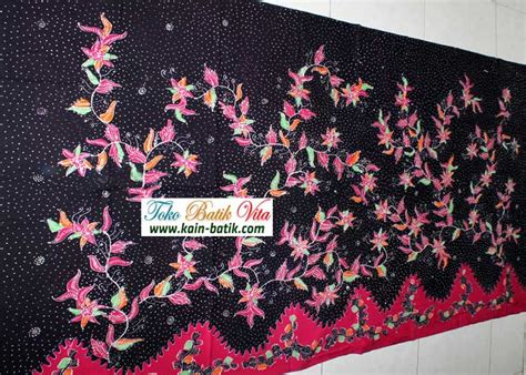 Kain Batik Madura Motif Mutiara Ungu batik motif tumbuhan ungu kbm 4070 kain batik murah