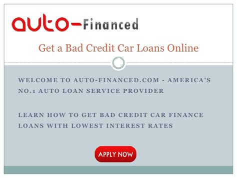 get a car loan with bad credit history